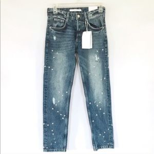 zara 6 studded star jeans skinny pre owned studs